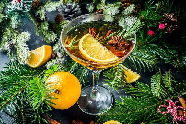 Navidad invierno alcohol cocktail julig aperol spritz