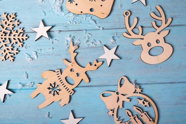 Navidad juguetes de madera para colgar