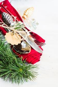 Navidad con set de cubiertos
