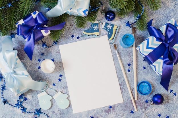 Navidad simulacro para carta a santa