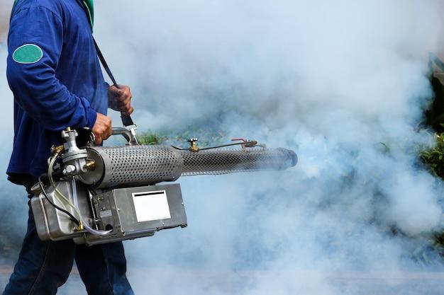 Nebulización para prevenir la fiebre del dengue
