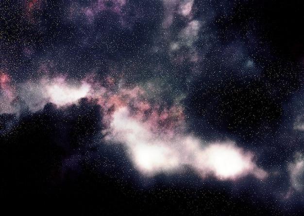 Nebulosa espacial estrellada púrpura