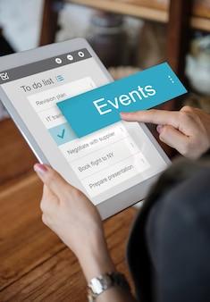 Negocio digital para hacer la interfaz de la lista de la aplicación