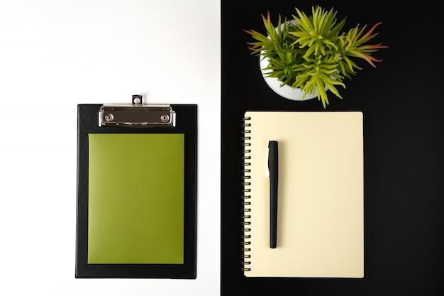 Negocios y ecología, escritorio.