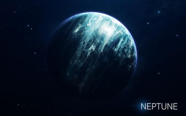 Neptuno - planetas del sistema solar en alta calidad. fondo de pantalla de ciencia.
