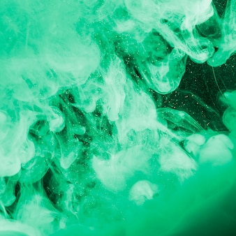 Niebla verde pesada abstracta