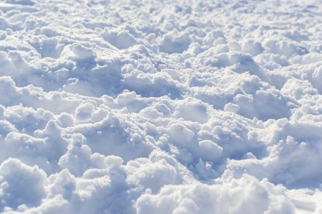 Nieve profunda pila textura invierno en perspectiva