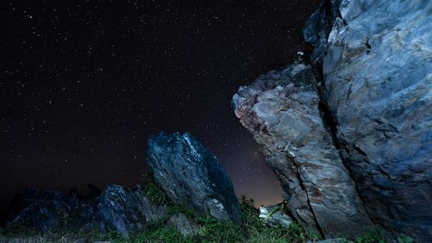 Night rock mountain