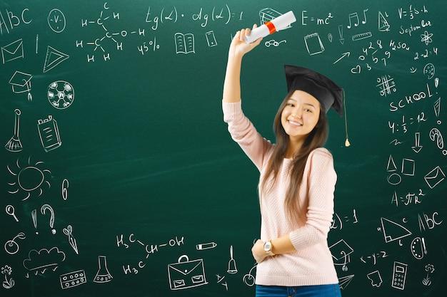 Niña adolescente escuela / colegio / estudiante universitario