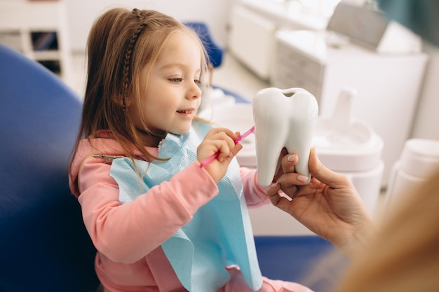 Niña de odontología