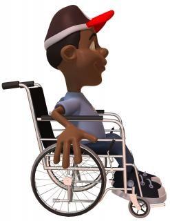 Niño en una silla de ruedas, sillas de ruedas
