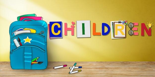 Niños niños descendencia joven adolescencia concepto