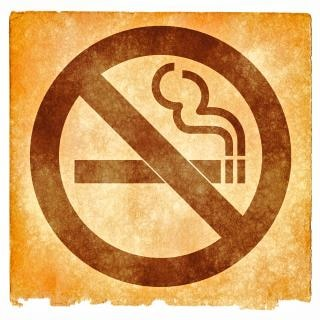 No fumar grunge signo decoración