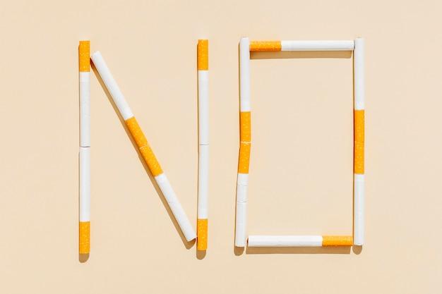 No hay mensaje para cigarrillos
