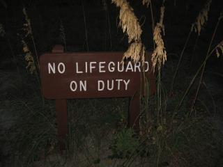 No hay salvavidas de guardia!