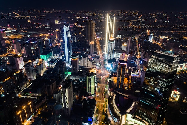La noche de la ciudad china
