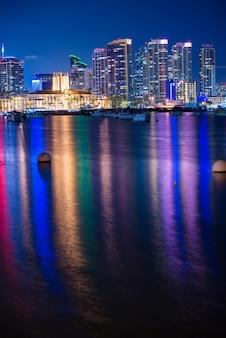 Noche colorida de san diego
