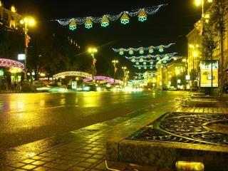 La noche kreschatik de kiev