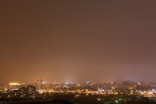 Noche paisaje urbano escena