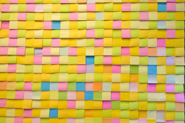 Nota de color de papel