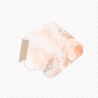 Nota de papel con forma de flecha de fondo abstracto pastel y cinta washi