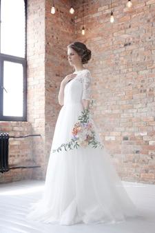 Novia en su vestido de novia