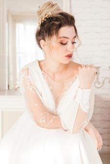 Novia con vestido de boda