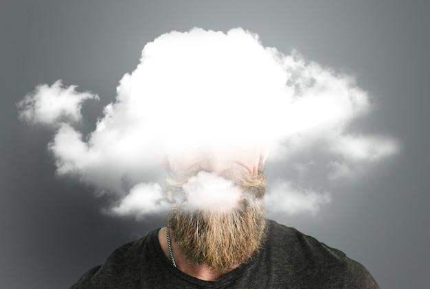 Nube dilema oculto depresión felicidad