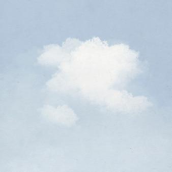 Nube de fondo en la ilustración de cielo azul