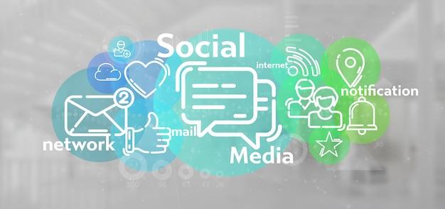 Nube de icono de red social
