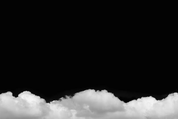 Nubes aisladas en negro con el camino de recortes.