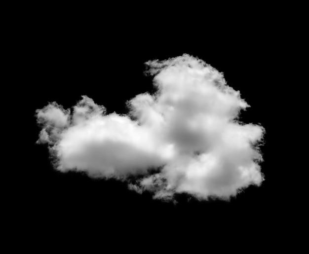 Nubes blancas sobre fondo negro