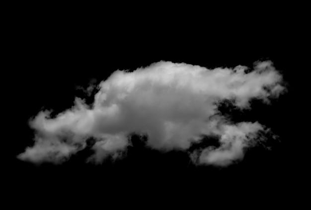 Nubes blancas sobre superficie negra.