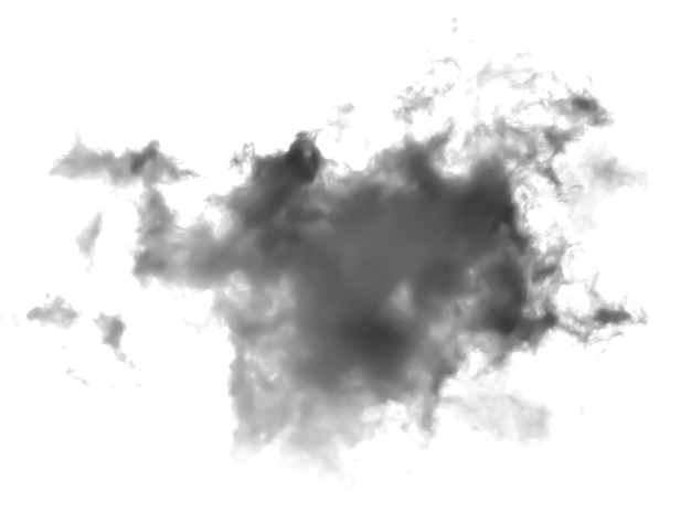 Nubes oscuras sobre fondo blanco.