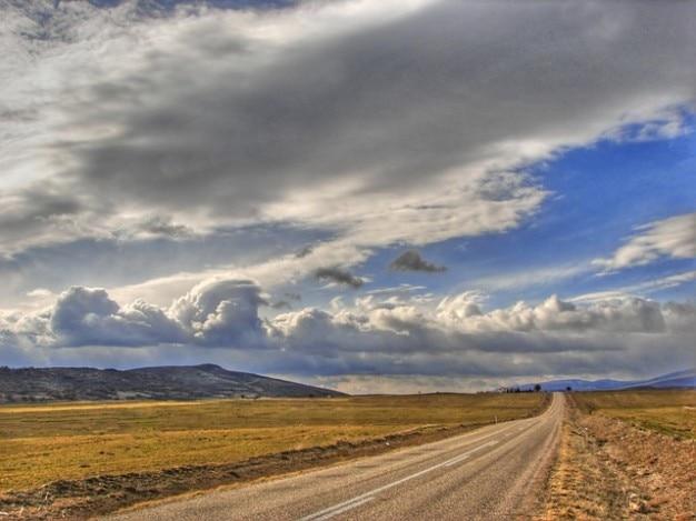 Nubes paisaje campos agrícolas cielo carretera ankara