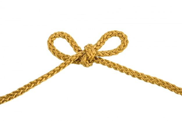 Nudo de lazo de cuerda de hilo