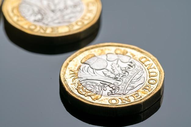 Nueva moneda de una libra británica