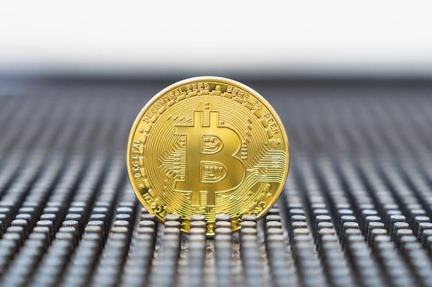 Nueva moneda online. bitcoin es la moneda del futuro. criptomoneda de oro.