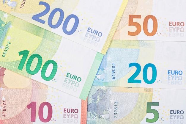 Nueva serie de dinero europeo una superficie de negocios