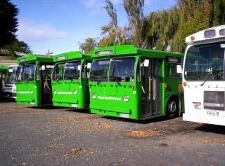 Nueva zelanda es de unos autobuses verdes