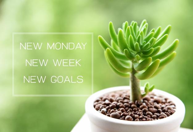Nuevo lunes nuevos objetivos concept