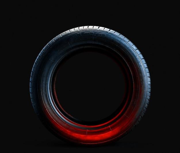 Nuevo neumático de automóvil moderno