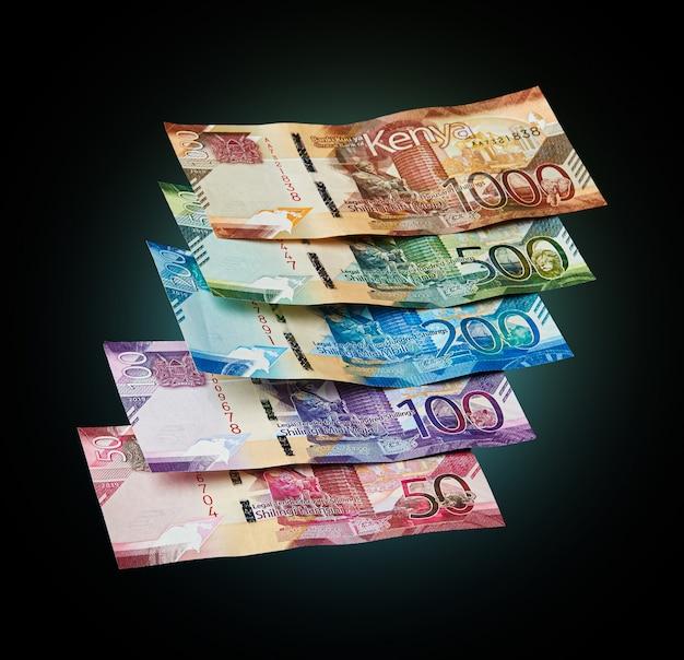 Nuevos billetes de la moneda de kenia