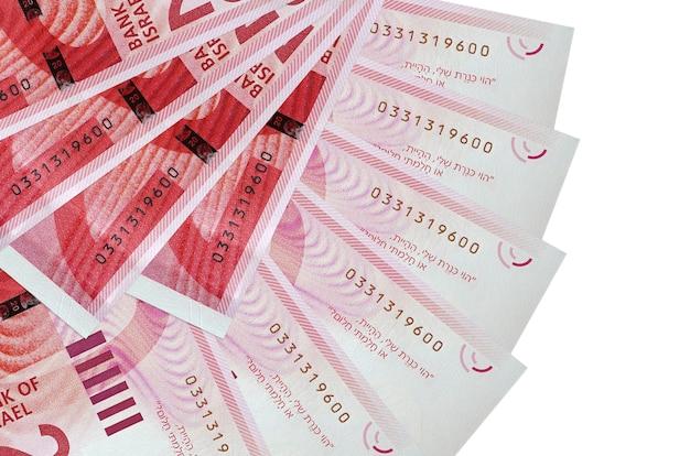 Los nuevos billetes de shekels israelíes se encuentran aislados