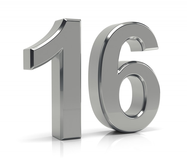 Número 16 Foto Premium