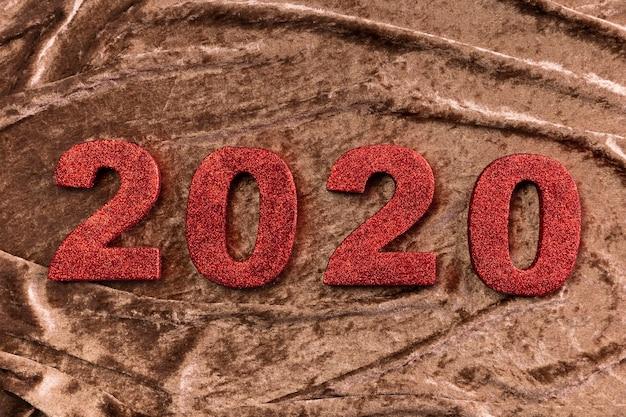 Número de año nuevo chino en terciopelo
