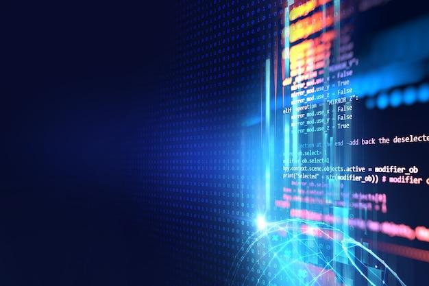 Número de código digital fondo de tecnología abstracta