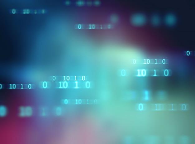 Número de código digital resumen tecnología de fondo