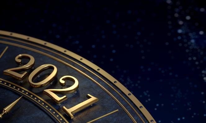 Número de oro 2021 de cerca postal de fondo