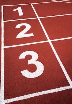 Número de pista de atletismo